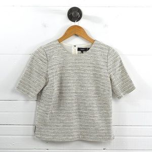 THEORY 'ZIP SHELL S THAYMES TWEED' TOP #135-81